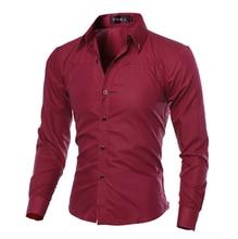 2018 Famous Brand Mens Shirt Long Sleeve Casual Slim Fit Dress Shirts Check Plaid Camisa Social Masculina Plus Size 5XL