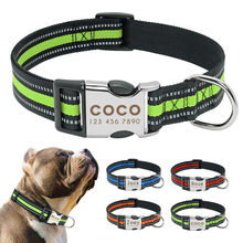 Personalized Dog Collar Reflective Pet Nylon Dog Tag Collar Custom Dog ID Name Collars Engraved For Medium Large Dogs Perro S L