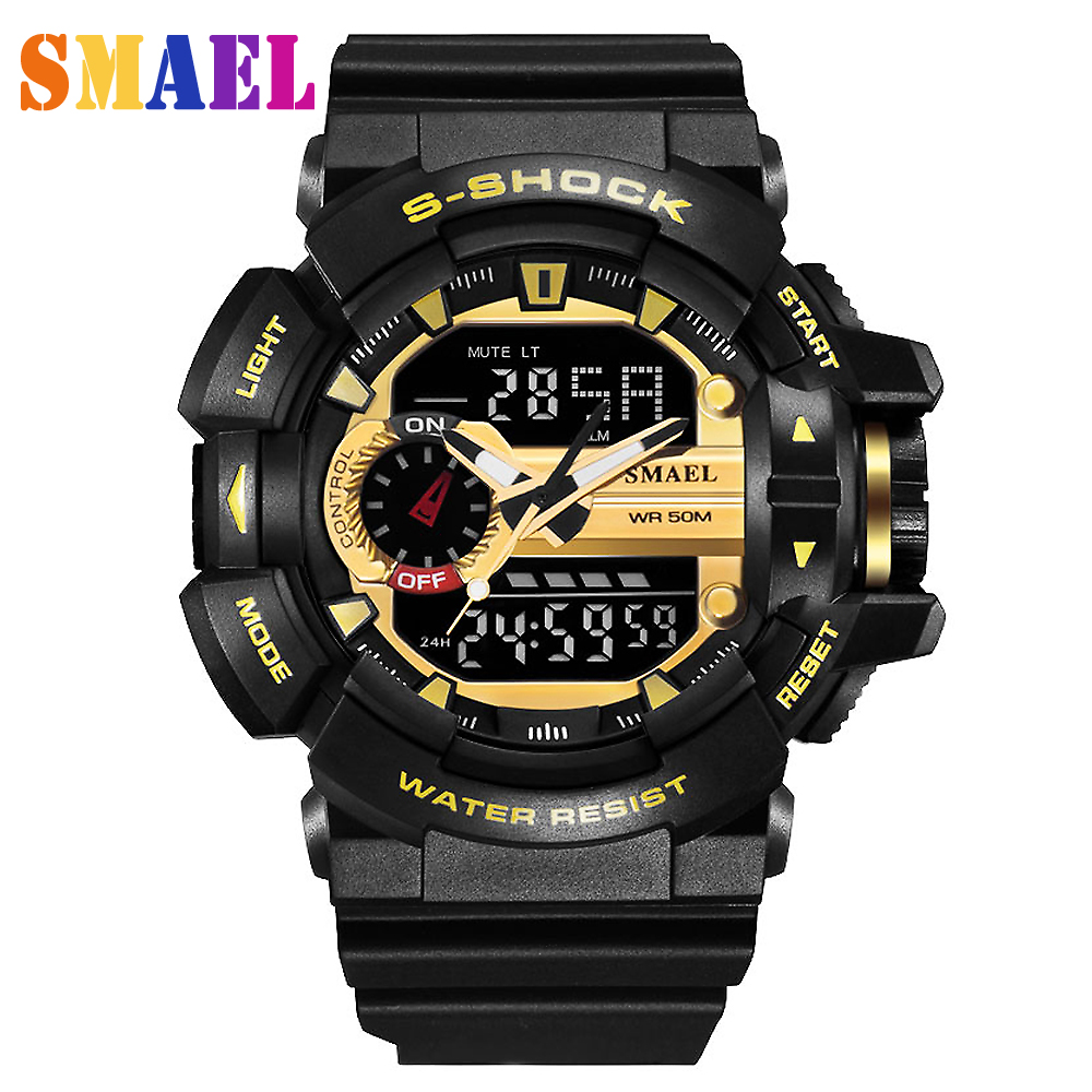 лучшая цена 2018 New Brand Fashion Sport Watch Men G Style Waterproof Sports Military Watches S-Shock Men's Luxury Quartz Led Digital Watch
