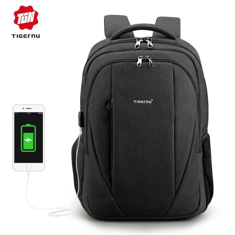 2018 Tigernu USB 15,6 ноутбук рюкзак мужчин anti-theft рюкзаки школьные сумки для подростков женские mochila