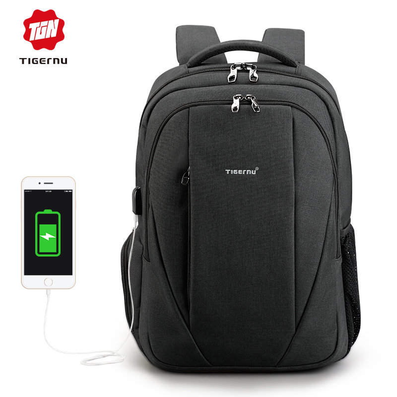 2018 Tigernu USB 15.6 laptop backpack men anti-theft backpacks school bags for teenagers women mochila men backpack student school bag for teenager boys large capacity trip backpacks laptop backpack for 15 inches mochila masculina
