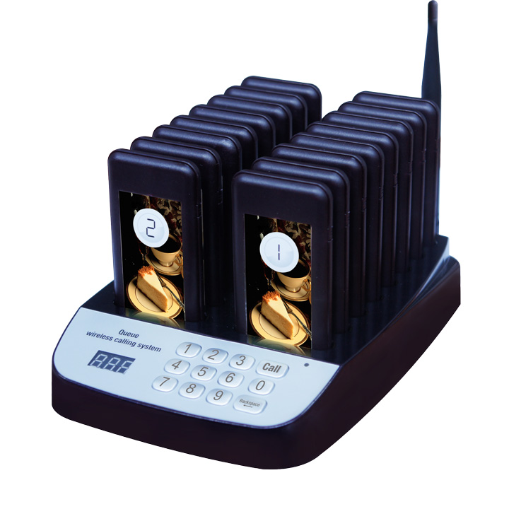 Wireless Restaurant Pager Coaster Waiter Paging Queuing System with Rechargeable Battery 433.92MHz Restaurant Equipments Wireless Restaurant Pager Coaster Waiter Paging Queuing System with Rechargeable Battery 433.92MHz Restaurant Equipments