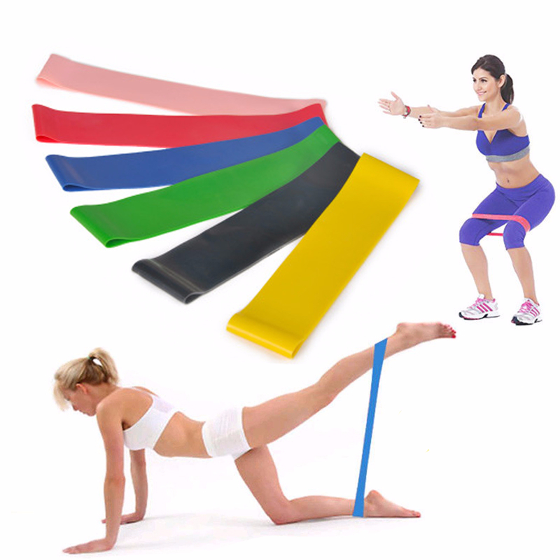 Yoga Resistance Rubber Bands Indoor Outdoor Gym Fitness Equipment 0.35mm-1.3mm Pilates Latex Sport Training Workout Elastic Yoga