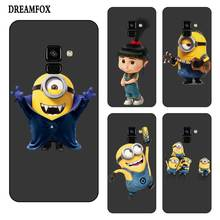 P125 Minion Cute Black Silicone Case Cover For Samsung Galaxy J2 J3 J4 J5 J6 J7 J8 Pro Plus Prime 2018 2017
