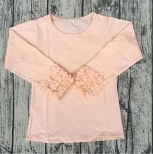 Irritar raglan camisa tecido de algodão gelo bebê persnickety roupas boutique Boutique Atacado Miúdo Meninas Desgaste de Aniversário Por Atacado