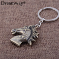 Men Jewelry Key Chain New Fashion Metal KeyChains Accessory Vintage Style Big Horse head Key Rings Car Key Pendant Drop Shipping