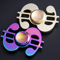 HandSpinner Fidget Spinner Aluminum Alloy Finger Gyro Dollar Finger Gyro Aluminum Alloy Decompression Toys 3years Old