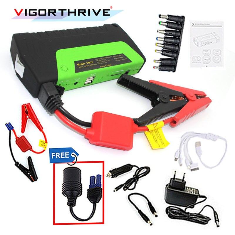 Voiture batterie externe voiture saut démarreur AUTO moteur Booster démarrage d'urgence batterie Portable chargeur batterie externe pour l'électronique