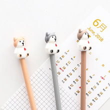 4 Pcs/Set gel pen dog boligrafo Kawaii pens for school Creative kalem cute caneta material escolar papelaria lapices 12 pcs set gel pen white boligrafo set color papelaria kawaii caneta cute stationery pens for school kalem