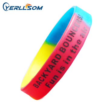 YERLLSOM Free Shipping 300pcs custom 1color personal logo silicone bracelets for Events P18011306