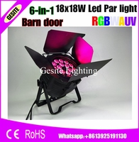 8 1xlot 6IN1 UV החדש 18x18 W RGBWA Led Par אור DMX 9/10 ערוצים Tyanshine Rgbwa נוריות tianxin 18 יחידות + uv Led Par יכול led-באפקטי תאורה לבמה מתוך פנסים ותאורה באתר