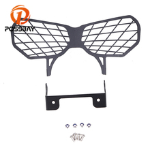 цена на Motorcycle Black Headlight Grille Guard Protector Cover Head Light Grille for Honda CBF1000L Moto Motorbike Accessories