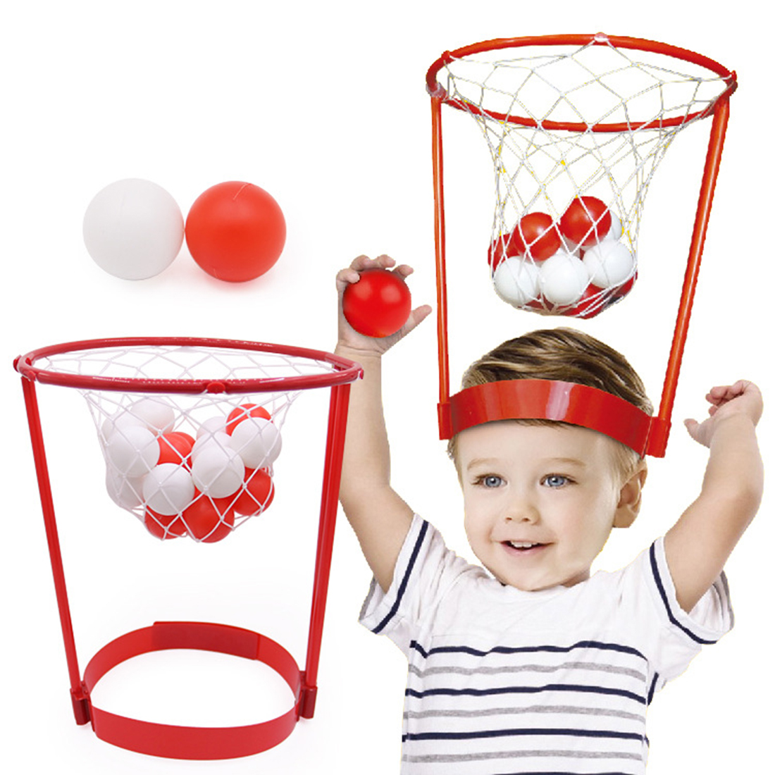 Children Headband Hoops Catching Basketball Board Indoor And Outdoor Sports Educational Early Toys Parent-Child Interaction