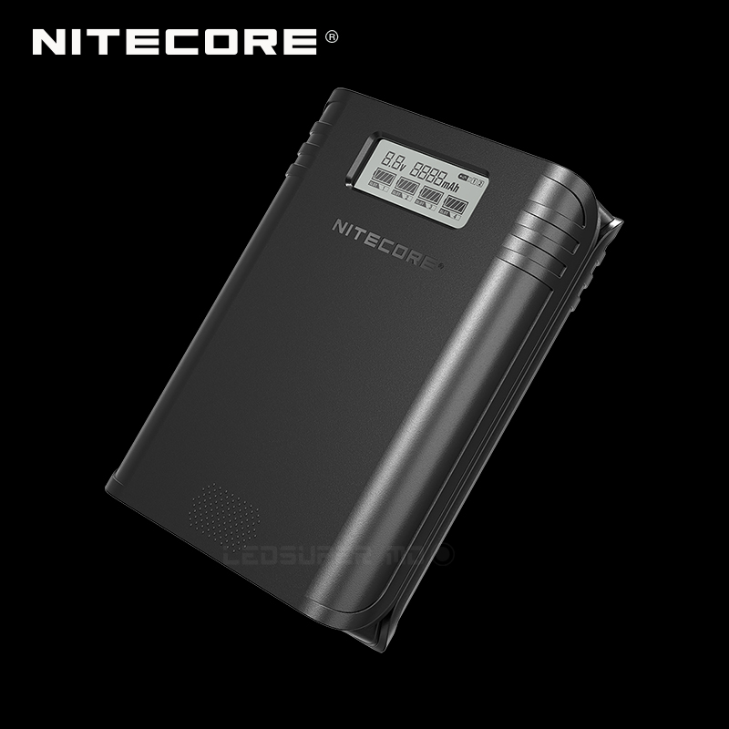 Gold Winner 2019 ISPO Award NITECORE F4 2 In 1 Four-slot Flexible Power Bank & Battery Charger With LCD Display