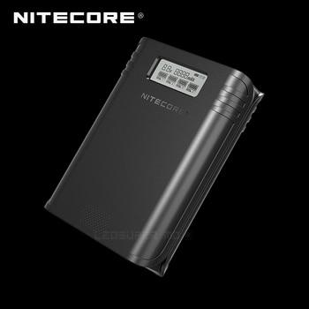 Vencedor de ouro 2019 ispo award nitecore f4 2 em 1 banco de potência flexível de quatro ranhuras e carregador de bateria com display lcd