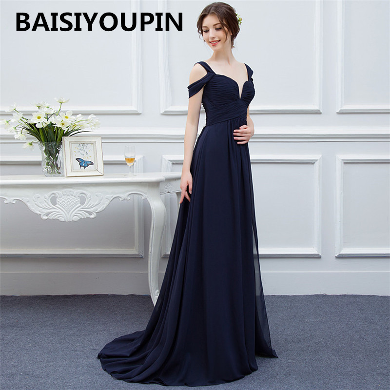 Dress Bridesmaid Chiffon Sweetheart Vestido Cheap Split Long Madrinha-De-Casamento Sexy