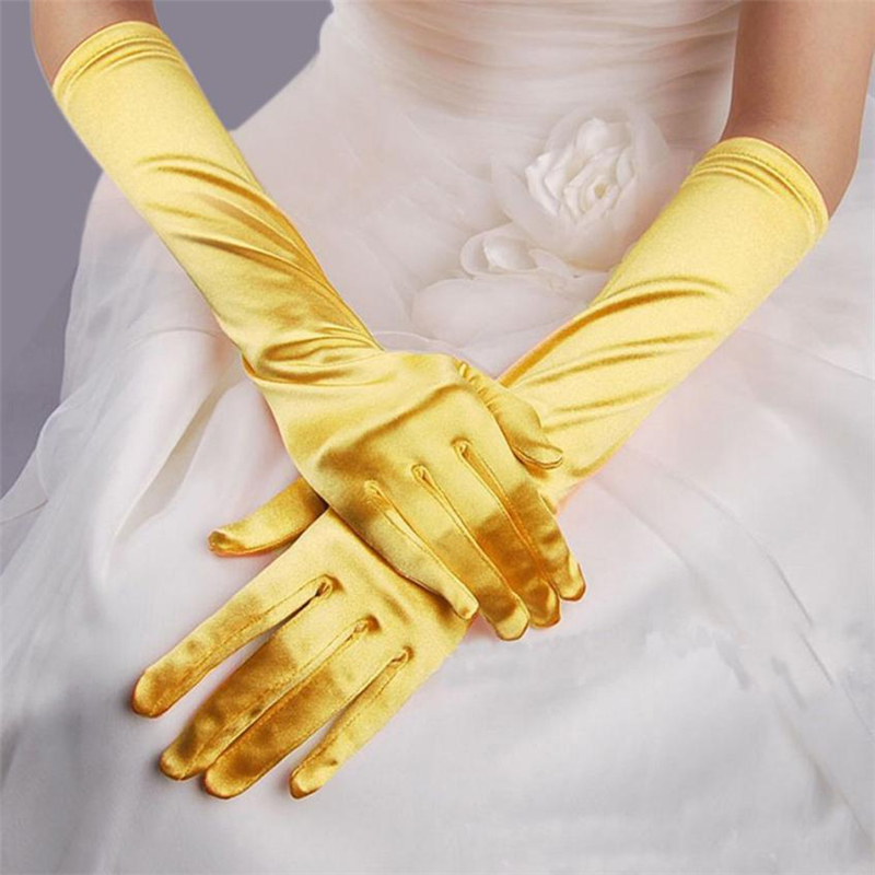 Fashion Satin Long Gloves Opera Wedding Bridal Evening Party Costume Gloves Hot