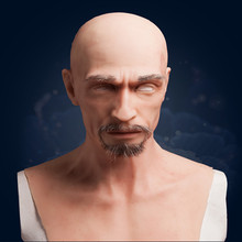 Hot Sale Transgender Decoration for silicone human Female Mask  Realistic Silicone Male Old Man