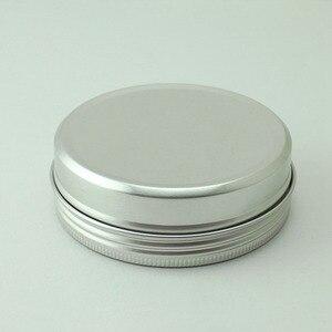 Image 2 - Sedorate 20 teile/los 250 ML Aluminium Runde Gläser Auto Wachs Haar wachs Seife Lebensmittel Mondkuchen Lagerung Gewinde Aluminium Glas Fällen MC1350