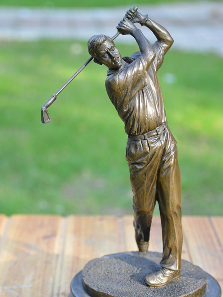 bronze statue of male golf movement decoration works of art Home Furnishing club business gifts decoration accessories