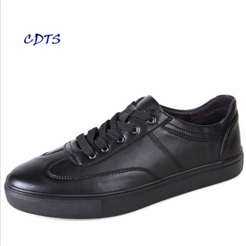 Casual-Shoes Fashion-Style Plus-Size Genuine-Leather LLXF Zapatos Best-Quality Men Hombre
