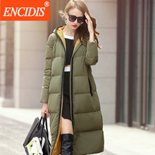 High Quality Women Down Coat Winter 2016 New Ladies Hooded Jacket Female Long Warm Coats Thick Windproof Glasses Jackets Y145