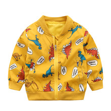 2018 Autumn Cardigan Kids Jackets For Boys Cartoon Dinosaur Children Outerwear&coats Baby Windbreaker 2018 new autumn korean children s jacket children s casual cartoon dinosaur print baby boys girls windbreaker
