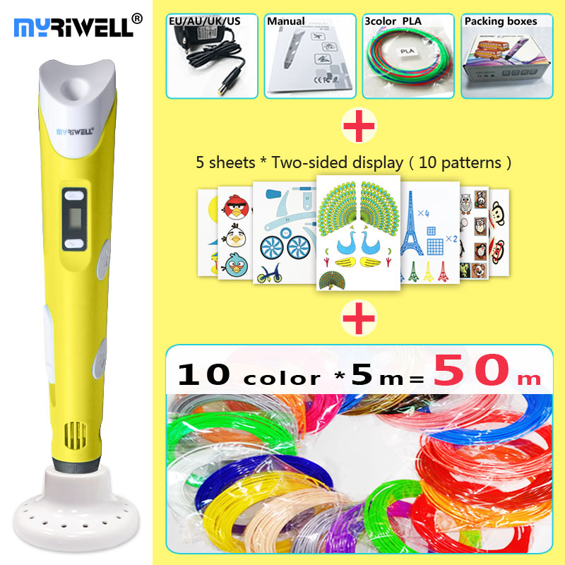 myriwell 3d pen 3d pens,LED display,ABS/PLA Filament,3 d pen 2018 3d printed pen 3d model Add special brackets to protect hands myriwell 3d pen led display 1 75mm pla filament abs 3d pens 3 d pen 3d handle smart child birthday gift toys abs plastic