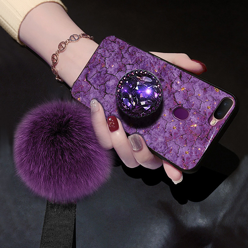 Cellphones & Telecommunications Glitter Palace Marble Fur Hair Ball+crystal Bracelet Strap Phone Case For Samsung Galaxy J2 Prime G532f J7 Duo J2 Pro 2018 Cover Fitted Cases