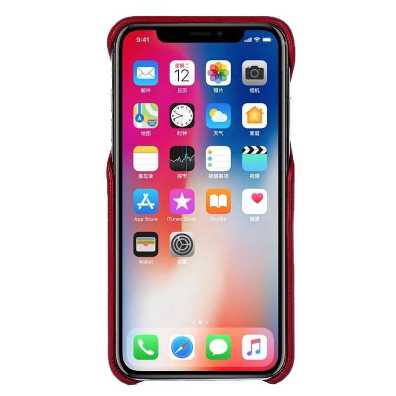 Cho Trên iPhone 6 S Chính Hãng Da lưng da Dành Cho iPhone 6 6 S 7 8 Plus Cho Iphone X XR XS Max Bao Fundas Túi
