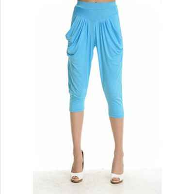 75200305ef3 Candy Color Fashion Harem Pants Loose Leggings Ice Silk Hot-selling Summer  Harem Short Leggings