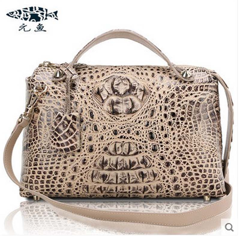 yuanyu  2018 new hot free shipping  crocodile women handbag shoulder strap bag leather shoulder bag  ladies handbags yuanyu 2018 new hot free shipping real thai crocodile women handbag female bag lady one shoulder women bag female bag