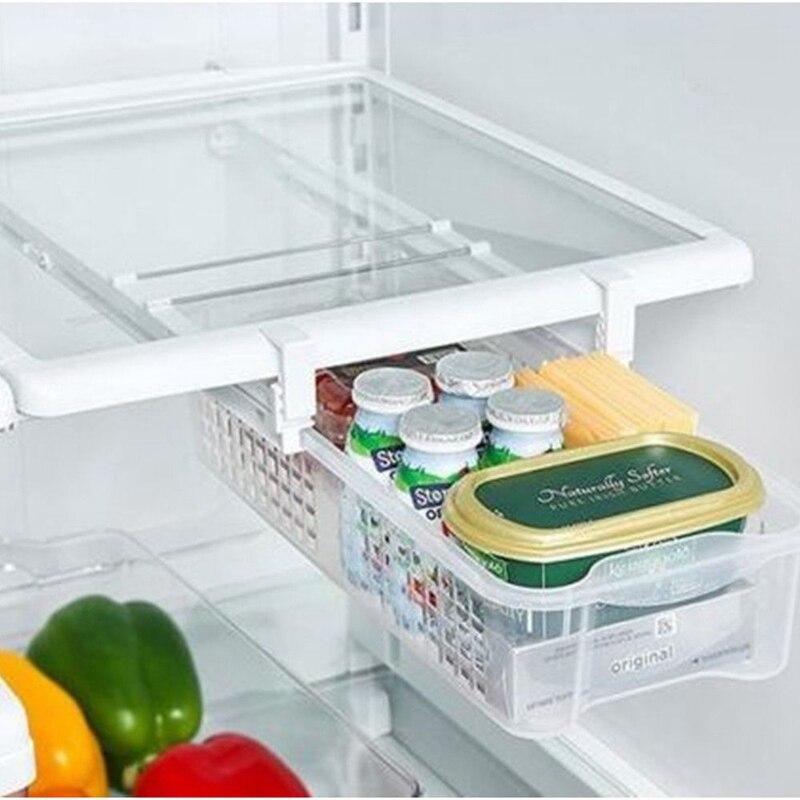 Küche Kühlschrank Lagerung Box Lebensmittel Behälter Frische Spacer Schicht Lagerung Rack Pull-out Schublade Küche Organizer 41X17X12 cm