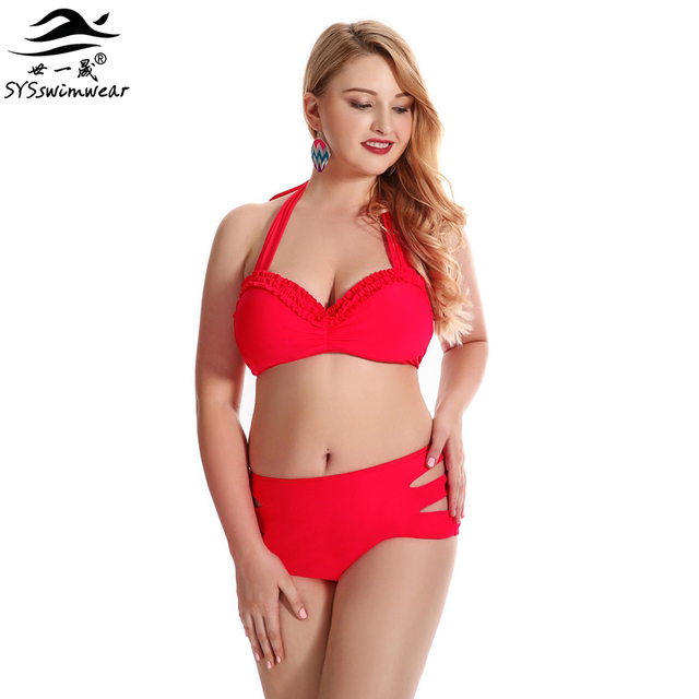 1a69fa40515a1 New Top Quality Hot Summer Plus Size Sexy Swimwear Women Bikini Push Up  Lady Beach Bathing Suit Pool Party Hot Red Swimsuit
