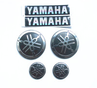 Motorcycle 3D round Sticker Decals for YAMAHA logo HIGH QUALITY CHROME SILVER Sticker For Yamaha YZF R1 R3 R6 R25 XJR 1300 TMAX5
