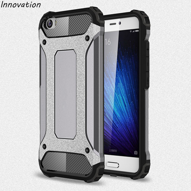 size 40 e8545 c1a6a US $3.27 18% OFF|Innovation Armor Case For Xiaomi Mi5 Cover Silicone  Shockproof Hard Tough Silicone TPU + PC Plastic Capa For Xiaomi Mi 5  Funda-in ...