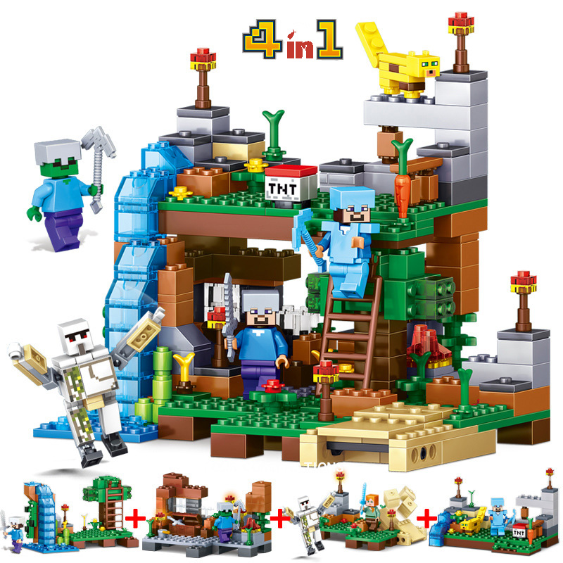 2017 Mine World Minecrafte action figures Building Blocks Sets Model Bricks My Craft Crystal Kids Toys Gift brinquedos
