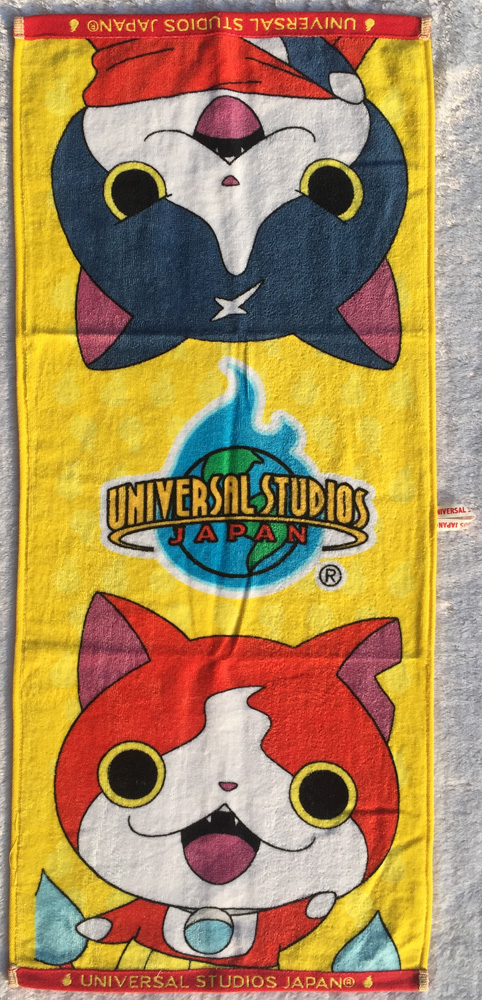 3DS Yo Kai Watch Jibanyan 34cm*80cm 100% Cotton Handkerchief Cartoon Towel