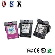 OSK 3pc 650XL Compatible Ink Cartridge for HP650 650XL for HP Deskjet Advantage 1015 1515 2515 2545 2645 3515 printer free shipping 2016 [hisaint] 2pk 650xl bk color ink cartridges for hp deskjet 1015 1515 4645 ink jet printer hot sale