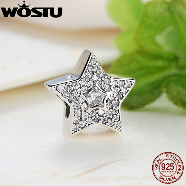 Wholesale Fashion 925 Sterling Silver Wishing Star Charm Beads Fit Original Pandora Bracelet Pendant Authentic Jewelry Gift