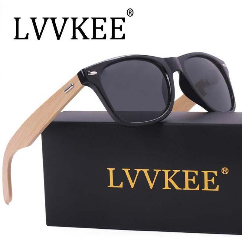 547084aebdb8c Lvvkee madeira de bambu de alta qualidade das mulheres dos homens dos óculos  de sol retro