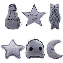 Luminous Moon Night Star Bulb Owl Cushion Pillow Kids Child Christmas Xmas Gift