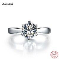 Ataullah 925 пробы серебро платина покрытием 3 карат SONA Помолвочные кольца с бриллиантом для Для женщин, кольцо стерлингового серебра RWD001 3
