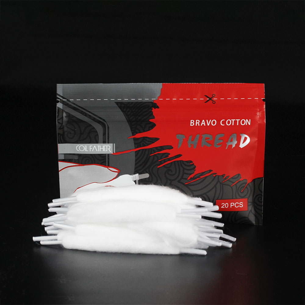 Coil Father 20pcs/bag Bravo Cotton Orgnic Cotton for Ecigarette Rebuildable RDA RBA DIY Vapor Cotton VS Vape Accessories