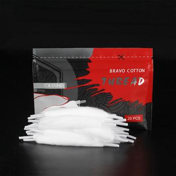 Cewka ojciec 20 sztuk worek Bravo bawełna Orgnic bawełna dla e-papieros Rebuildable RDA RBA DIY pary bawełna VS akcesoria Vape tanie i dobre opinie Coil Father Bawełna i Knot CN (pochodzenie) Bravo Cotton Electronic Cigarette 20pcs bag 131mm 91mm