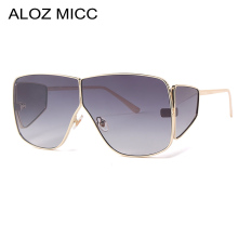 ALOZ MICC Vintage Women Oversized Sunglasses Men Fashion Brand Metal Square Shades Goggles UV400 Q622