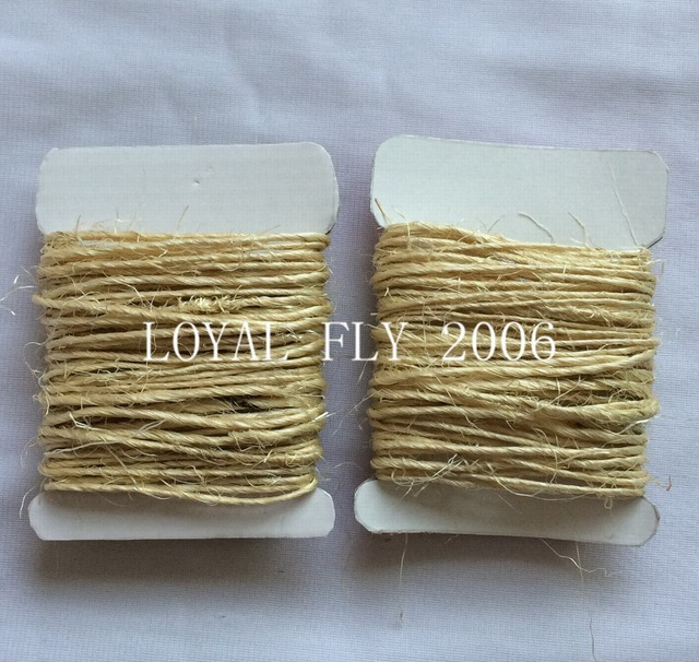 US $9 99 |5cards/lot(total (50yards) 100% natural 1 5mm twisted sisal rope,  sisal twine cords used in home, graden packing-in Cords from Home & Garden