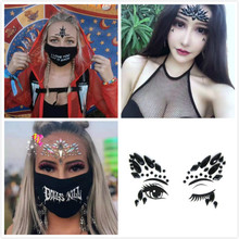 Hot New Face Jewels Acrylic Bling Drill Eye Body Art Temporary Women Tattoos Nightclub Music Festival Sticking