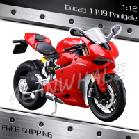 1:12 Scale Ducati 1199 Panigale Metal Diecast Model Motorcycle Motorbike Racing Cars Kids Boys Vehicle Collection