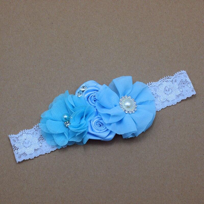 Diadema para bebé de encaje Flores con perlas y pedrería Niñas - Accesorios para la ropa - foto 5